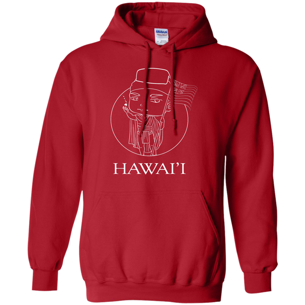 Hawai'i (chibi style King Kamehameha) Pullover Hoodie 8 oz, Hoodies, Hawaii Nei All Day, Hawaii Clothing Brands