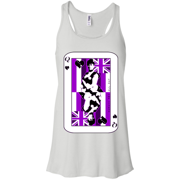 The Queen of Hawai'i Liliuokalani (purple ink) Racerback Tank, T-Shirts, Hawaii Nei All Day
