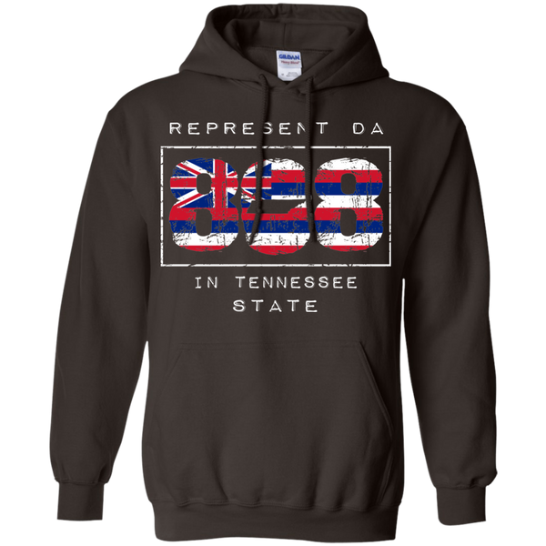 Rep Da 808 In Tennessee State Pullover Hoodie 8 oz., Sweatshirts, Hawaii Nei All Day, Hawaii Clothing Brands