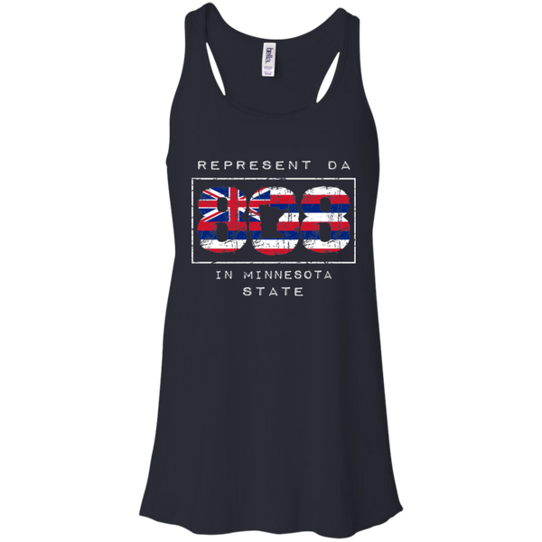Rep Da 808 In Minnesota State Bella + Canvas Flowy Racerback Tank, T-Shirts, Hawaii Nei All Day