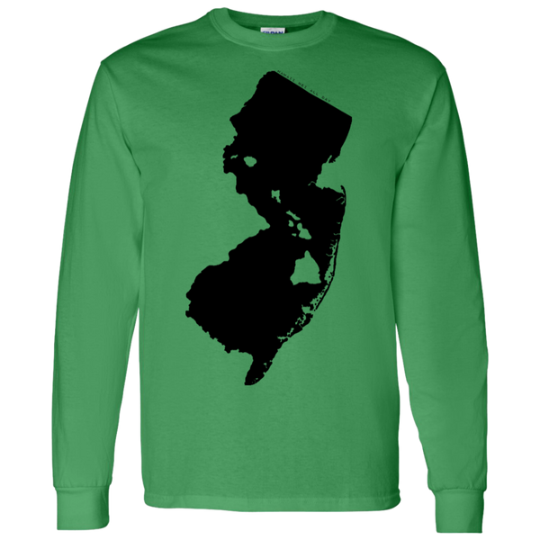 Living in New Jersey with Hawaii Roots LS T-Shirt 5.3 oz., T-Shirts, Hawaii Nei All Day