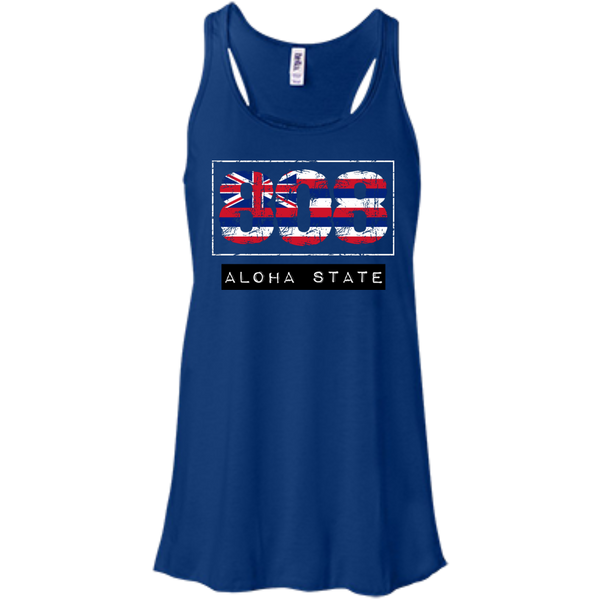 808 Aloha State Bella+Canvas Flowy Racerback Tank, , Hawaii Nei All Day