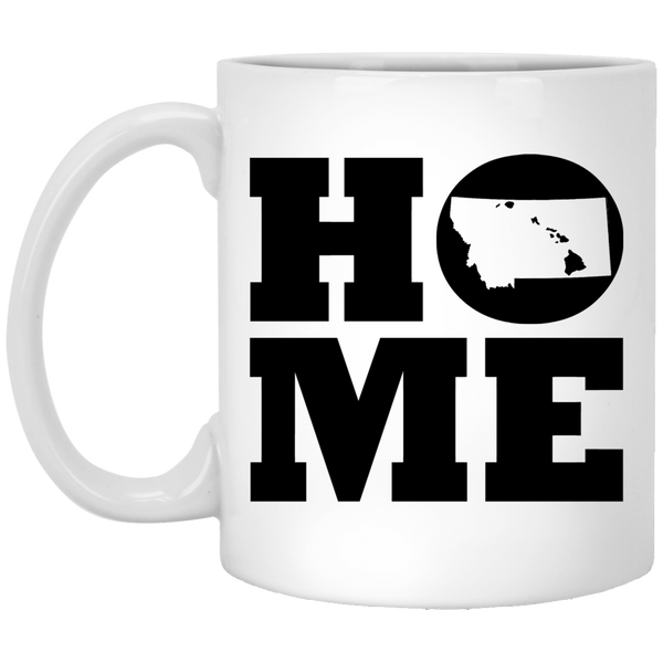 Home Roots Hawai'i and Montana White Mug, Apparel, Hawaii Nei All Day