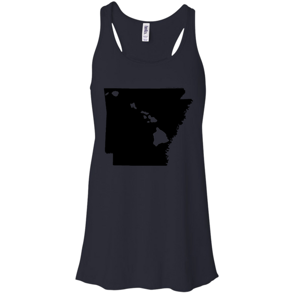 Living in Arkansas with Hawaii Roots Bella + Canvas Flowy Racerback Tank, T-Shirts, Hawaii Nei All Day