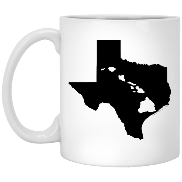 Texas and Hawaii Roots White Mug, Apparel, Hawaii Nei All Day