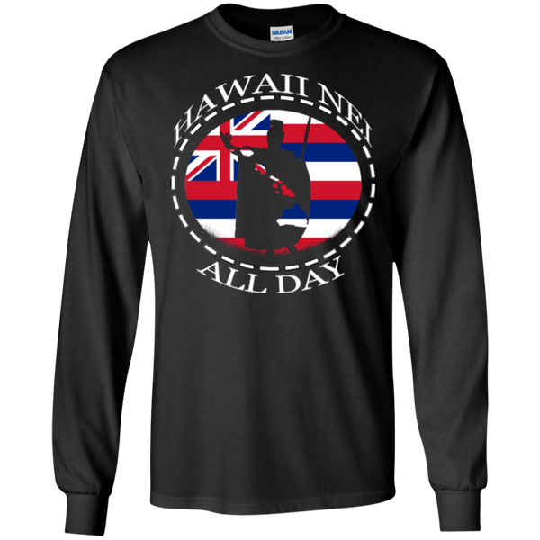 The Rising Sun  LS Ultra Cotton T-Shirt, T-Shirts, Hawaii Nei All Day