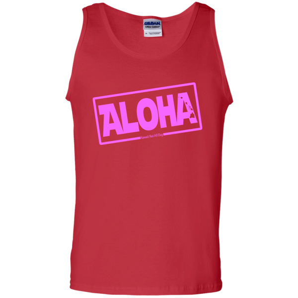 Aloha Hawai'i Nei (Islands pink ink) 100% Cotton Tank Top, T-Shirts, Hawaii Nei All Day