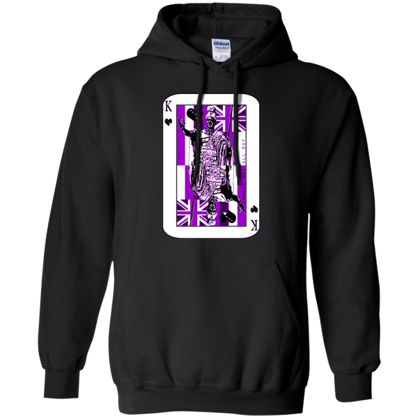 The King of Hawai'i Kamehameha (purple ink) Pullover Hoodie, Sweatshirts, Hawaii Nei All Day