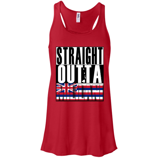 Straight Outta Mililani Hawai'i Racerback Tank, T-Shirts, Hawaii Nei All Day