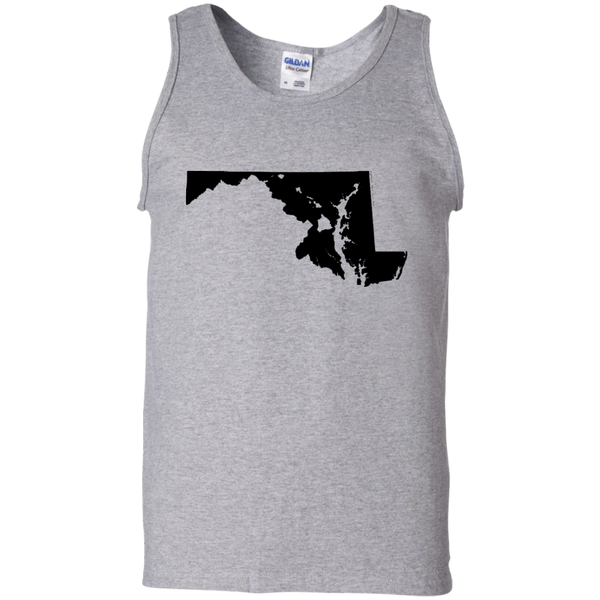 Living in Maryland with Hawaii Roots 100% Cotton Tank Top, T-Shirts, Hawaii Nei All Day, Hawaii Clothing Brands