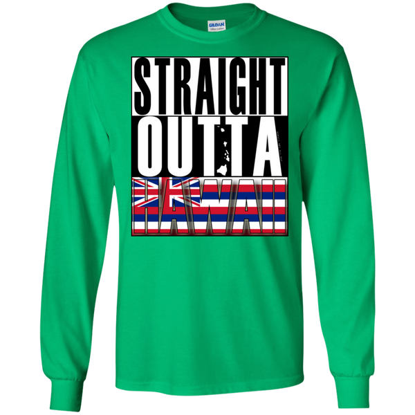 Straight Outta Hawaii LS Ultra Cotton T-Shirt, T-Shirts, Hawaii Nei All Day