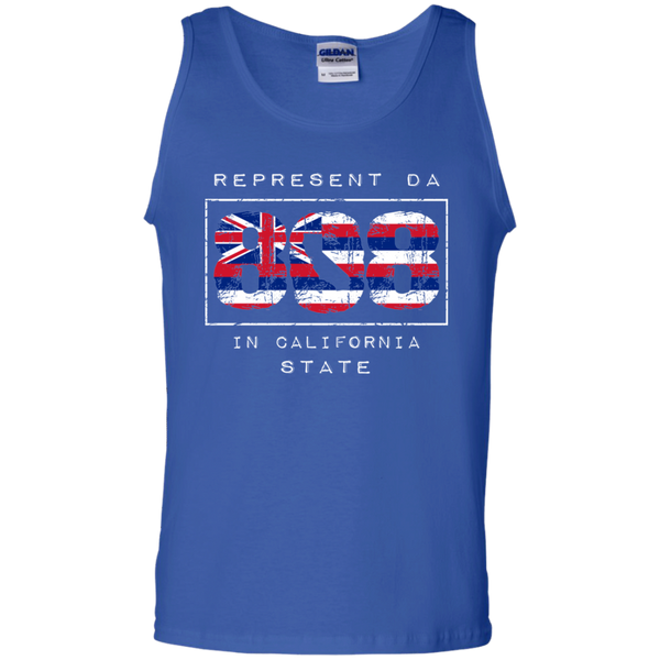 Rep Da 808 In California State 100% Cotton Tank Top, T-Shirts, Hawaii Nei All Day