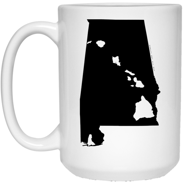 Alabama and Hawaii Roots White Mug, Apparel, Hawaii Nei All Day