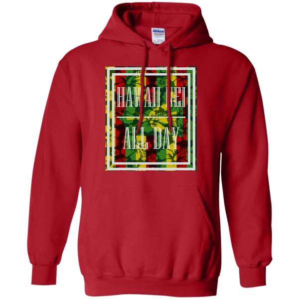 Hawai'i Floral Kanaka Maoli Pullover Hoodie 8 oz., Sweatshirts, Hawaii Nei All Day, Hawaii Clothing Brands