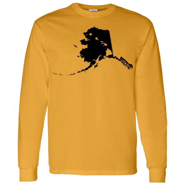 Living in Alaska with Hawaii Roots LS T-Shirt 5.3 oz., T-Shirts, Hawaii Nei All Day, Hawaii Clothing Brands