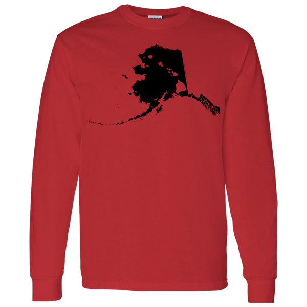 Living in Alaska with Hawaii Roots LS T-Shirt 5.3 oz., T-Shirts, Hawaii Nei All Day