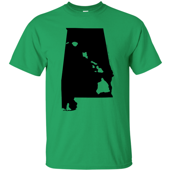 Living in Alabama with Hawaii Roots Ultra Cotton T-Shirt, T-Shirts, Hawaii Nei All Day