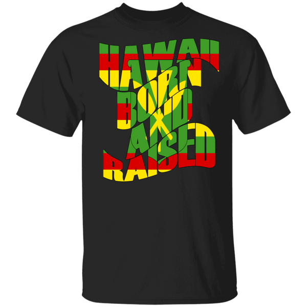 Hawaii Born and Raised Kanaka Maoli T-Shirt, T-Shirts, Hawaii Nei All Day