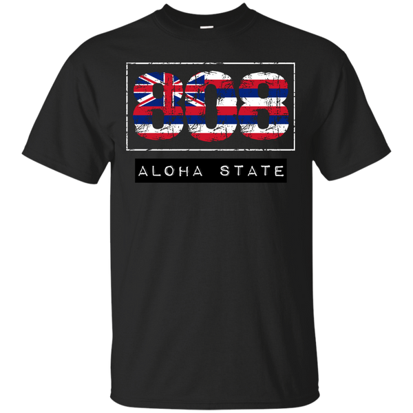 808 Aloha State Custom Ultra Cotton T-Shirt, Short Sleeve, Hawaii Nei All Day