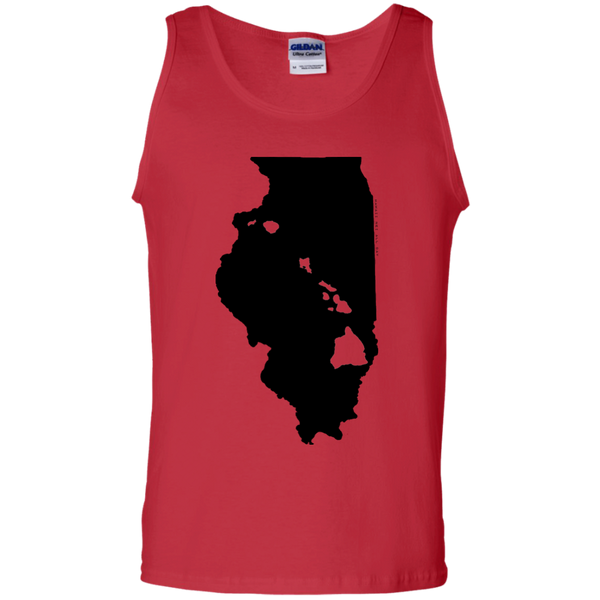 Living in Illinois with Hawaii Roots 100% Cotton Tank Top, T-Shirts, Hawaii Nei All Day