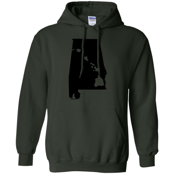 Living in Alabama with Hawaii Roots Pullover Hoodie 8 oz., Sweatshirts, Hawaii Nei All Day, Hawaii Clothing Brands