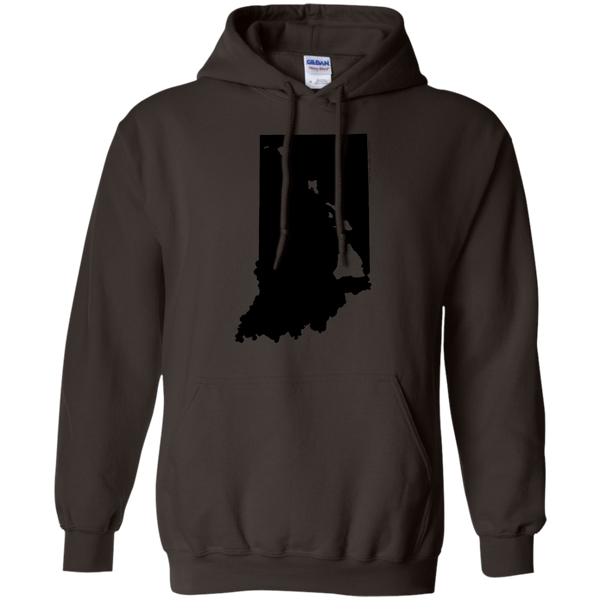 Living in Indiana with Hawaii Roots Pullover Hoodie 8 oz., Sweatshirts, Hawaii Nei All Day, Hawaii Clothing Brands