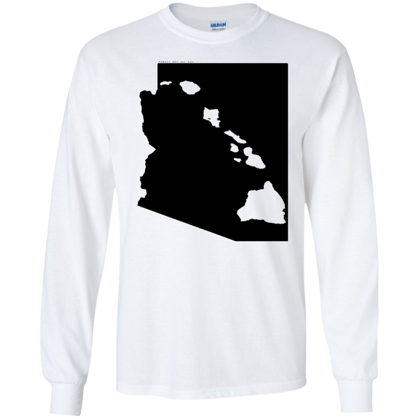 Living in Arizona with Hawaii Roots LS Ultra Cotton T-Shirt, T-Shirts, Hawaii Nei All Day, Hawaii Clothing Brands