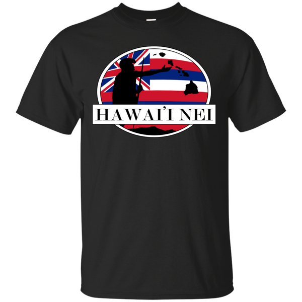 Hawai'i Nei King Kamehameha Custom Ultra Cotton T-Shirt, Short Sleeve, Hawaii Nei All Day