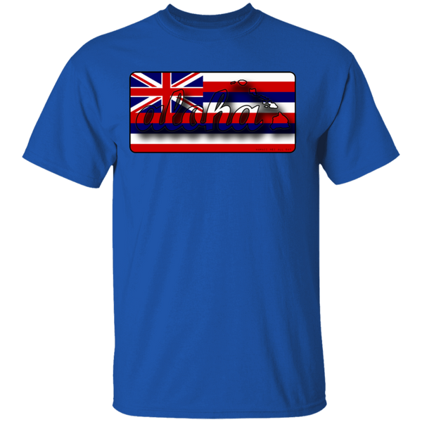 Aloha Hawaiian Islands Hawai'i Flag T-Shirt, T-Shirts, Hawaii Nei All Day