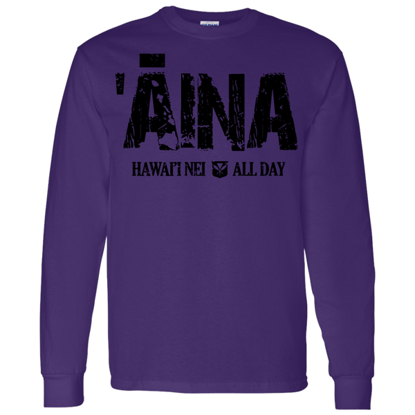 Aina Hawai'i Nei (black ink) LS T-Shirt 5.3 oz., T-Shirts, Hawaii Nei All Day, Hawaii Clothing Brands