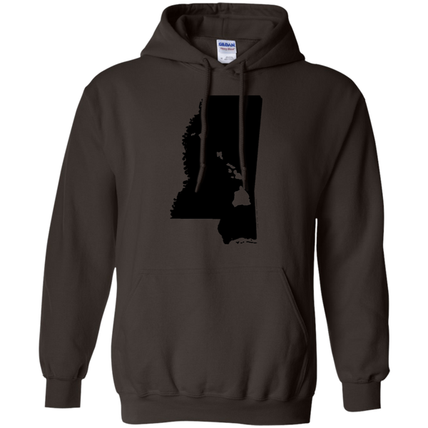 Living in Mississippi with Hawaii Roots Pullover Hoodie 8 oz., Sweatshirts, Hawaii Nei All Day