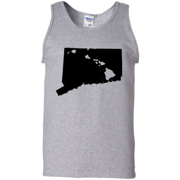 Living in Connecticut with Hawaii Roots 100% Cotton Tank Top, T-Shirts, Hawaii Nei All Day