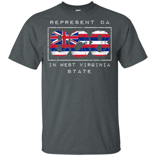 Rep Da 808 In West Virginia State Ultra Cotton T-Shirt, T-Shirts, Hawaii Nei All Day