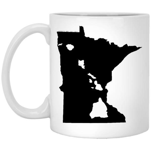 Minnesota and Hawaii Roots White Mug, Apparel, Hawaii Nei All Day