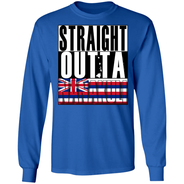Straight Outta Nanakuli LS Ultra Cotton T-Shirt, T-Shirts, Hawaii Nei All Day