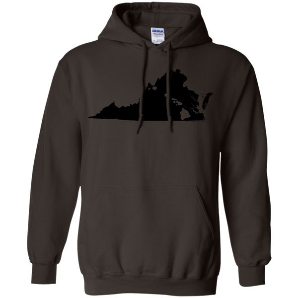 Living in Virginia with Hawaii Roots Pullover Hoodie 8 oz., Sweatshirts, Hawaii Nei All Day