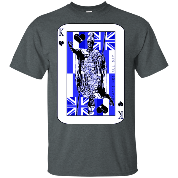 The King of Hawai'i Kamehameha (blue ink) Ultra Cotton T-Shirt, T-Shirts, Hawaii Nei All Day