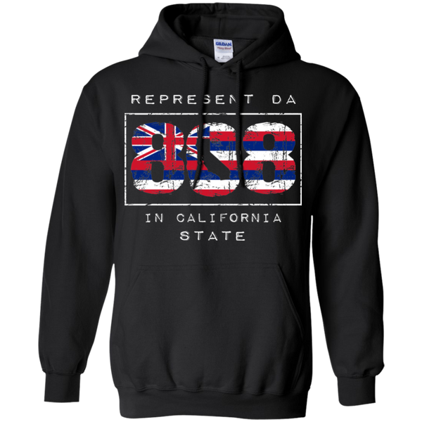 Rep Da 808 In California State Pullover Hoodie 8 oz., Sweatshirts, Hawaii Nei All Day