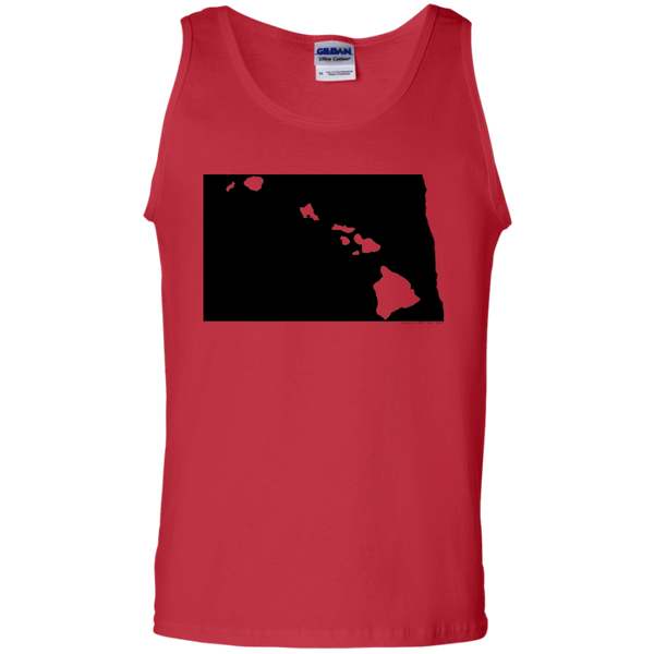 Living in North Dakota with Hawaii Roots 100% Cotton Tank Top, T-Shirts, Hawaii Nei All Day