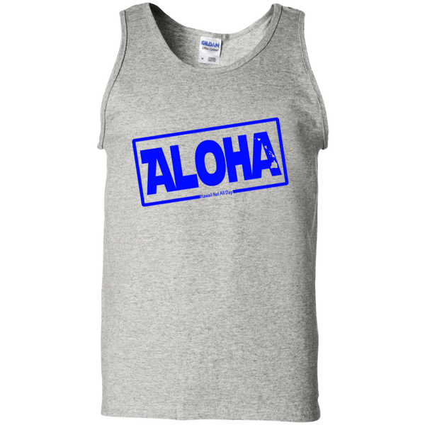 Aloha Hawai'i Nei (Islands blue ink) 100% Cotton Tank Top, T-Shirts, Hawaii Nei All Day