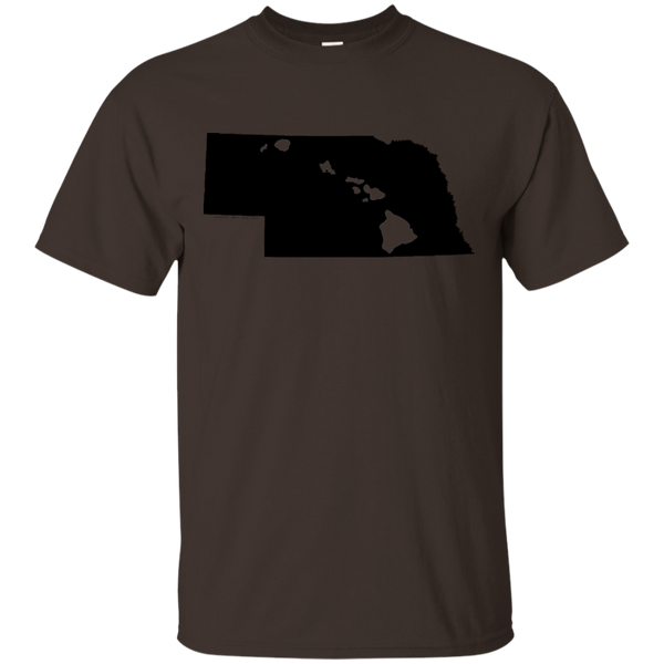 Living in Nebraska with Hawaii Roots Ultra Cotton T-Shirt, T-Shirts, Hawaii Nei All Day