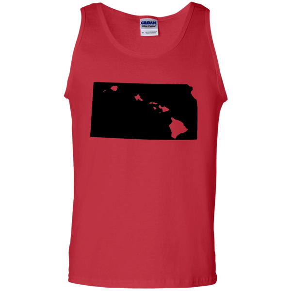 Living in Kansas with Hawaii Roots 100% Cotton Tank Top, T-Shirts, Hawaii Nei All Day, Hawaii Clothing Brands