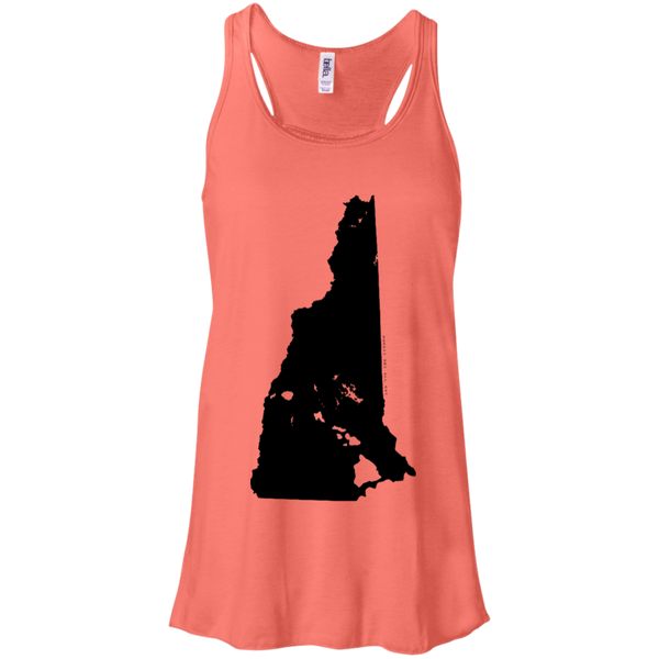 Living in New Hampshire with Hawaii Roots Bella + Canvas Flowy Racerback Tank, T-Shirts, Hawaii Nei All Day