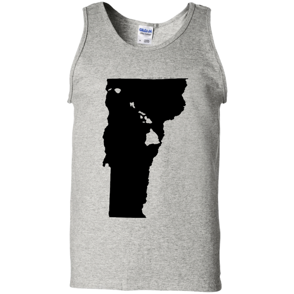 Living in Vermont with Hawaii Roots 100% Cotton Tank Top, T-Shirts, Hawaii Nei All Day