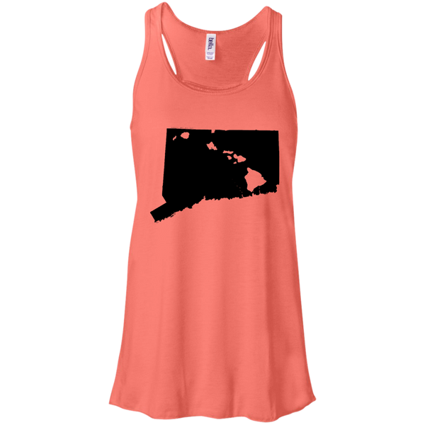 Living in Connecticut with Hawaii Roots Bella + Canvas Flowy Racerback Tank, T-Shirts, Hawaii Nei All Day