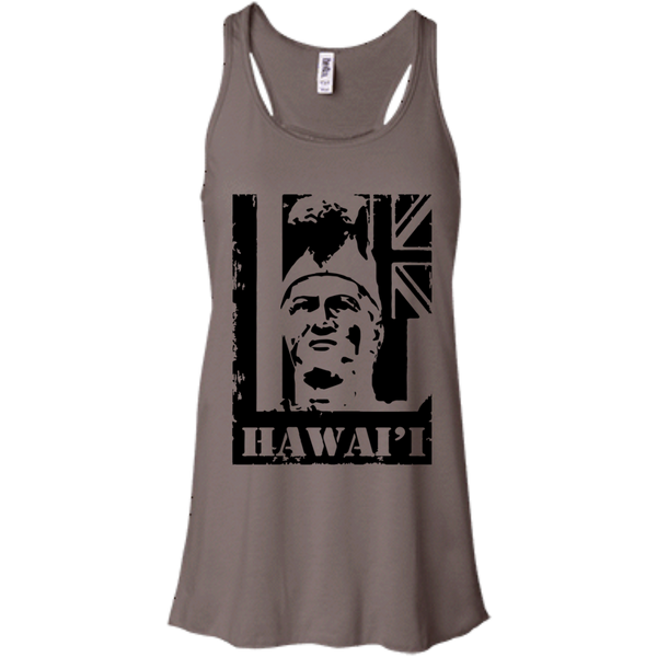 Hawai'i King Kamehameha Bella + Canvas Flowy Racerback Tank, T-Shirts, Hawaii Nei All Day