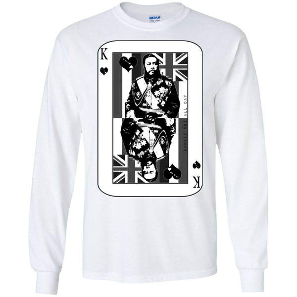 The King of Hawai'i Kalakaua(black ink) LS Ultra Cotton T-Shirt