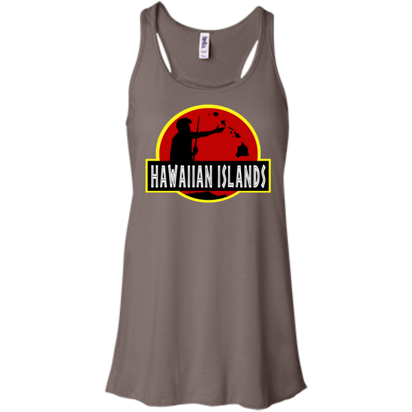 Hawaiian Islands Bella+Canvas Flowy Racerback Tank, , Hawaii Nei All Day, Hawaii Clothing Brands