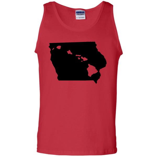 Living in Iowa with Hawaii Roots 100% Cotton Tank Top, T-Shirts, Hawaii Nei All Day