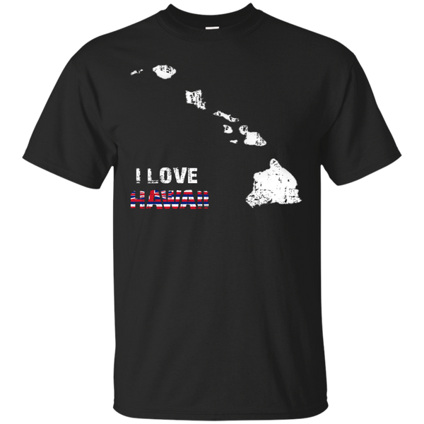 I Love Hawaii(islands) Custom Ultra Cotton T-Shirt, Short Sleeve, Hawaii Nei All Day